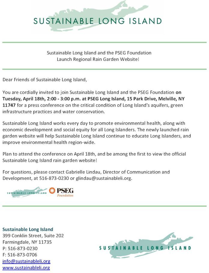 Sustainable Long Island and the PSEG Foundation
