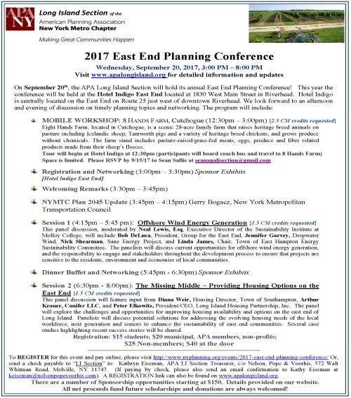 2017 East End Planning Conference Announcement FINAL3